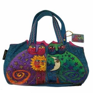 Laurel Burch Celestial Felines Cat Medium Tote Bag